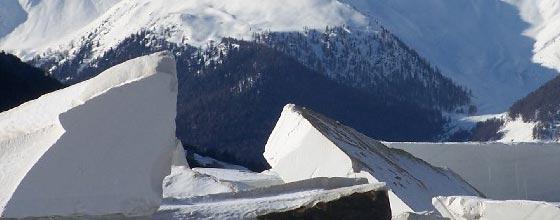 Marmor und Schnee in Laas/Südtirol